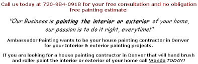 Estimate For Painting House Interior by House Painting Denver