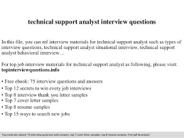 Application Support Analyst Sample Resume by Technical Support Analyst Interview Questions