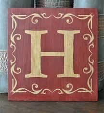 monogram plaques initial sign 11 1 4 door plaque monogram painted wood sign