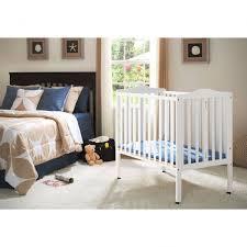 Folding Mini Crib Great Delta Children Folding Portable Crib With Mattress Walmart