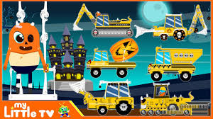 halloween construction vehicles scary trucks halloween for