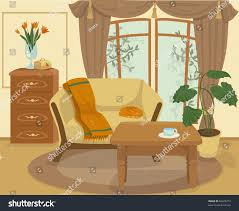 cartoon table in living room carameloffers