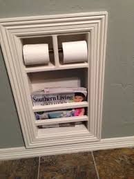 recessed toilet paper holder with shelf built in bathroom toilet paper holder house ideas pinterest
