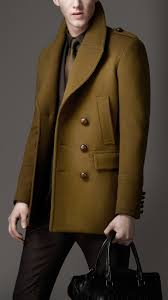men s coats pea duffle top coats burberry wool pea coat
