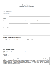 gift kind donation form template resumedoc