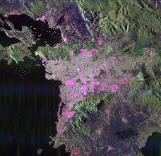 Eclipse Patricia Curtains by Space Radar Image Of Athens Greece Nasa Image And Library