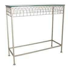 glass and metal console table champagne metal and glass console table forever furnishings