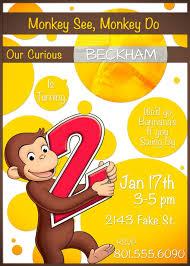 personalized monkey birthday invitations tags sock monkey