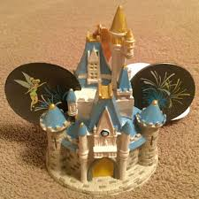 disney world wdw cinderella castle mickey ear hat ornament light