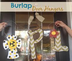 diy burlap door hanger the food hussy