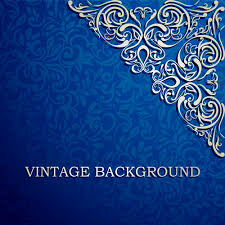 blue floral ornament vintage background vector free vector in