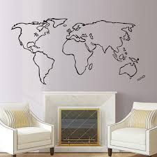 Accessories For Living Room by Aliexpress Com Buy Dctop Large World Map Vinyl Wall Sticker Home