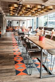 Commercial Dining Room Furniture Bonfire Restaurant The Barbican Centre London Designed By