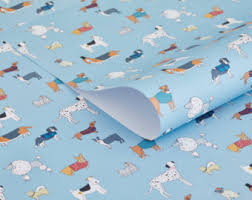 paw print tissue paper dog wrapping paper etsy