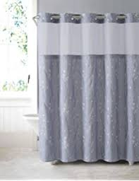 Shower Curtain For Stand Up Shower Amazon Com Hookless Rbh40bbs01 Snap In Fabric Liner For Shower