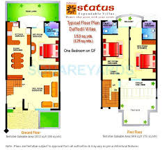 Expandable Floor Plans Achievers Status Expandable Villa In Sector 49 Faridabad