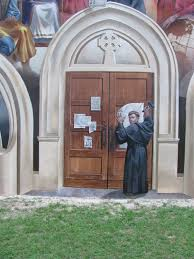 thesis of martin luther photo of martin luther nailing theses to church door christian upload 2017 6 23 4 39 23 jpeg