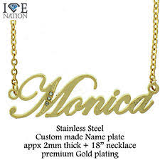 Name Chain Necklace Gold Name Plate Chain Necklace Ebay