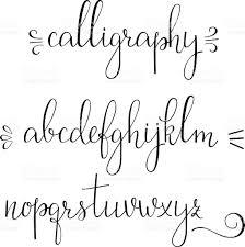 calligraphy cursive font stock vector art 498534314 istock