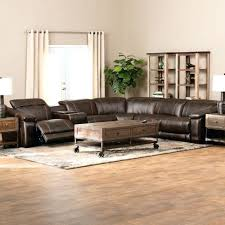 reclining leather sectional sofas theater reclining leather