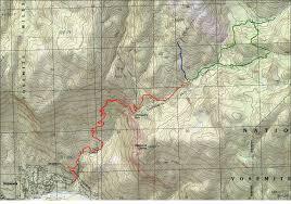 Map Of Yosemite Southern Yosemite Chilnualna Falls