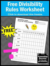divisibility rules sheet division strategies 4th grade math review