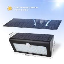 Solar Patio Table Lights by Amazon Com Albrillo 38 Led Solar Lights Motion Sensor Outdoor