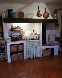 Rustic Cabin Kitchen Ideas Floating Light Brown Wooden Kitchen Shelves For Utensils Small