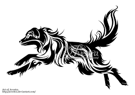 australian shepherd dog tribal logotype by avestra on deviantart
