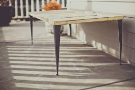 Outdoor Table Legs Tapered Angle Iron Metal Table Legs
