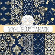 royal blue wrapping paper damask digital paper royal blue damask with royal