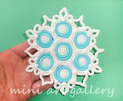 snowflake ornament handmade polymer clay by artsistafotini on
