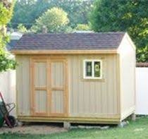 This X Backyard Storage Shed Was Built By The Perrys Using My - Backyard storage shed designs