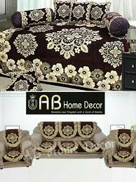 ab home decor combo of floral design diwan set and sofa cover sets