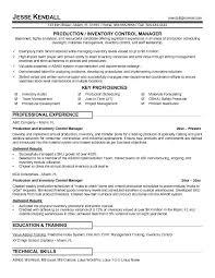 Controller Resume Example by Inventory Control Resume Haadyaooverbayresort Com