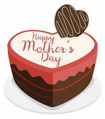 delicious chocolate cake for mother u0027s day vector illustration