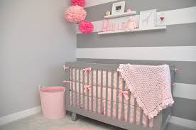 Pink And Grey Nursery Decor Pink And Grey Baby Nursery Ideas Mippoos