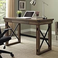 wood and metal writing desk urban industrial desk rustic writing inspiring industrial office
