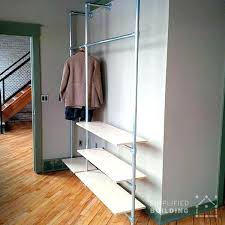 Industrial Pipe Bookcase Bookcase Diy Modern Coat Rack With Floating Shelves Plumbing