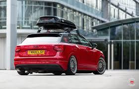 Audi Q2 Slammed With Vossen Wheels Shows Potential Performancedrive