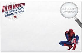 spiderman birthday invitation envelopes di 327env harrison