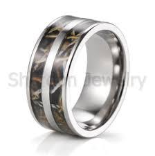 camo wedding rings for men 2017 wholesale men s 10mm titanium realtree max 4 camo