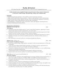 Resume Template For Engineers Electronic Engineer Resume Format Click Here To This