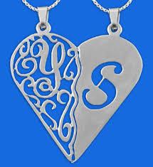 personalized heart pendant wow imports personalized split heart pendant lace monogram