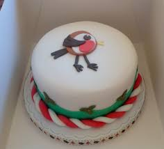 Christmas Cake Decorations Robin by Other White U0027s Cake House