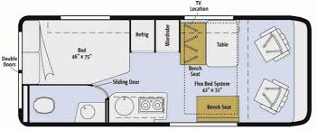 Type B Motorhome Floor Plans Dodge Campers And Motor Homes