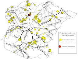 Uga Map Oglethorpe County Grapples With Request For New Chicken Houses