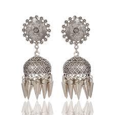 jhumka earring earrings online store oxidized jhumka earrings at best price by