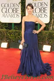 Red Carpet Gowns Sale by Satin Natalie Portman Strapless Red Golden Globe Gowns Floor
