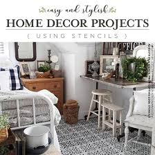 Easy Home Decorating Projects Easy And Stylish Home Decor Projects Using Stencils Stencil Stories
